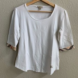 Burberry Brit // White 3/4 Sleeve T-shirt